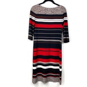 Calvin Klein 3/4 Sleeve Red Stripe Shift Dress 2